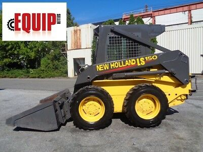 New Hollad LS150 Wheel Skid Steer Loader - Enclosed Cab - Heat - Aux Hydraulics