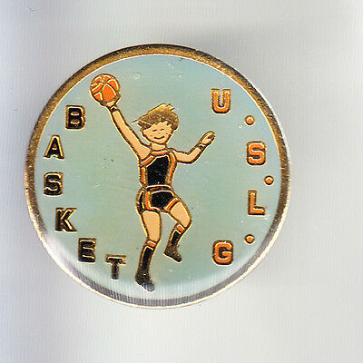 Rare Pins Pin's .. Sport Basket Ball Club Team Uslg La Glacerie Cherbourg 50 ~Cq