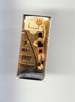 Rare Pins Pin's .. Sport Basket Ball Club Tournoi 92 La Glacerie Cherbourg 50~Cq
