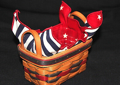 Longaberger 1993 All America Trio Basket Protector, Liner, Product Card