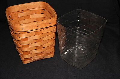 1992 Longaberger Small Spoon Basket with Protector and Product Card