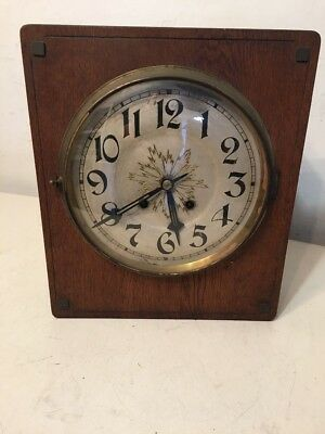 Antique German Lfs Arts Crafts Art Deco Style Wall Clock