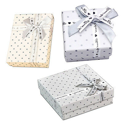 3pcs Dot Jewellery Gift Boxes High Quality Earring Necklace Bracelet Ring Set BE