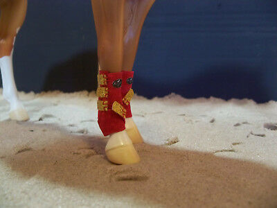 Breyer Traditional SMB Boots - Red and Gold