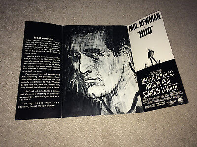 HUD Advance Movie Promo Brochure 1963 Paul Newman Cowboy Rancher Drama