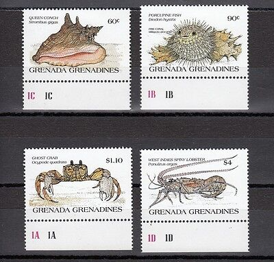 Timbre Stamp 4 Grenadines Grenade Y&t#608-11 Coquillage Neuf**/mnh-Mint  ~A57