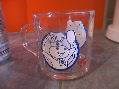PILLBURY DOUGHBOY Poppin' Fresh GLASS Cup MUG