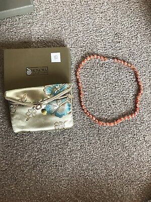 Brand New Boxed Honora Peach Pearl Necklace