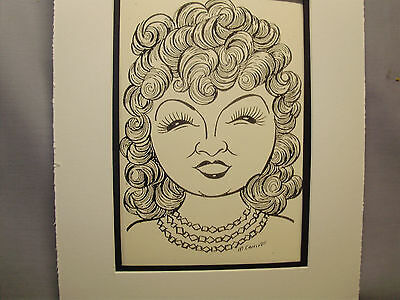 Mae West  Caricature Drawing from Studio 54 New York Famous Faces art