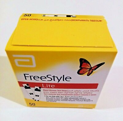 Blood Glucose Test Strip, Freestyle Lite    50 In Box  ,  Expire 2/2019