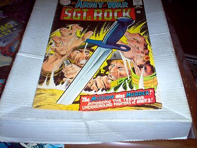 Our Army At War # 189 Sgt Rock Intro Unit 3 Kubert Art Look Fn+