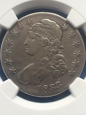 1833 Capped Bust Half-Dollar **NGC: Very Fine Details**