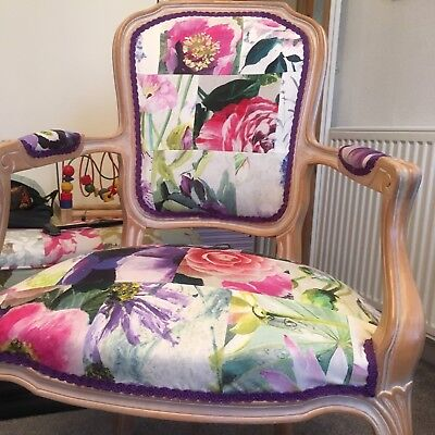 French Antique Reupholstered Chair