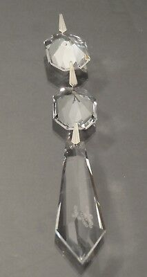 1 Brand New Waterford Crystal Chandelier 2 Button Prism Drop Replacement