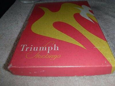 Vintage 3 Pair Nos Triumph Seamed Stockings Size 10 A Color Pink Sand