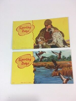 Vintage Ink Blotter Goes Made In USA Sporting Days Mallard Duck Hunter Dogs