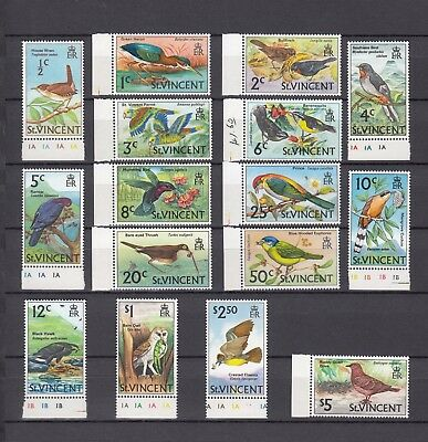 Timbre Stamp  16  St Vincent Y&t#261-75 Oiseau Bird Neuf**/mnh-Mint 1969 ~A57