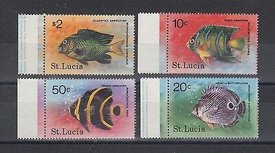 Timbre Stamp 4 Ile St Lucia Y&t#440-43 Poisson Fish  Neuf**/mnh-Mint 1978 ~A57