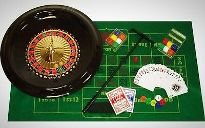 Poker 16' Deluxe Roulette Set Accessories Included 120 Chip 2 Balls Wheel Rack