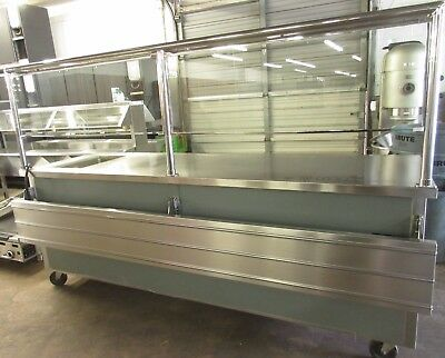 """Delfield 96"""" Mobile Cafeteria Style Serving Table w/ Hot Well"""