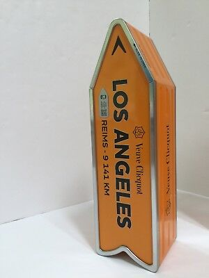 Veuve Clicquot Champagne Gift Tin Box Los Angeles LA Street Sign Vacation