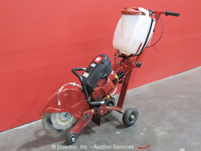 "2005 Hilti DS HS80-16 80 CC Gas 16"" Concrete Saw Water Push Cart Folding bidadoo"