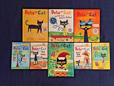 Lot of 8 Children's Picture Books James Dean: Pete the Cat Series - HCs and PBs