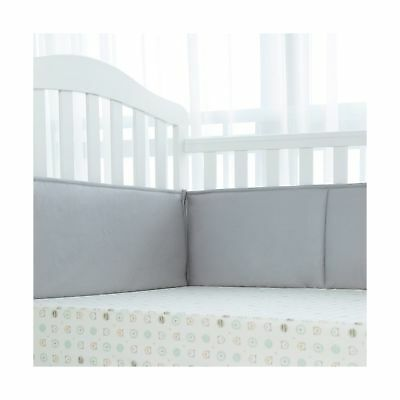 TILLYOU Padded Baby Crib Bumper Premiun Woven Cotton and Breathable Fill-in(M...