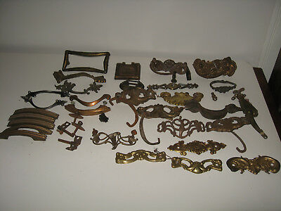Approximately Lot of 41 Vintage Brass/Metal Drawer Pulls Handles