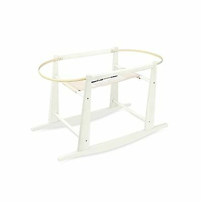 Jolly Jumper Rocking Wooden Moses Basket Stand Antique White