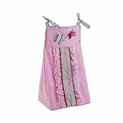 Just Born Antique Chic Diaper Stacker Butterfly Pink