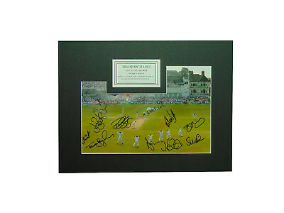England Cricket 'win The Ashes' 2005 Signed Display + *coa*