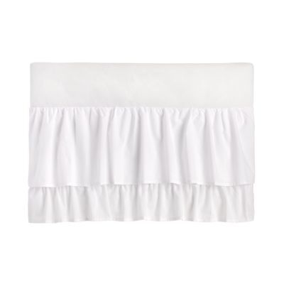 Little Love - Two Tiered Crib Skirt - White Two Tiered Dust Ruffle - White