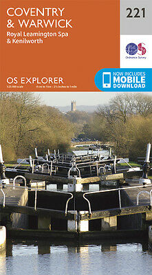 Coventry and Warwick Explorer Map 221 - New - OS - Ordnance Survey