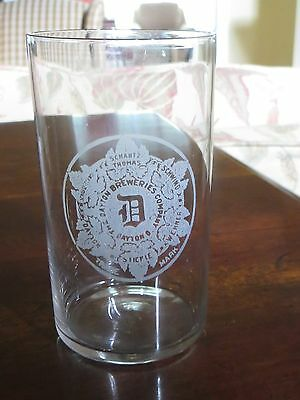 ETCHED PRE PRO beer brewery GLASS DAYTON BREWERIES SHANTZ THOMAS OHIO Oh