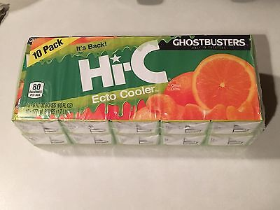 Hi-C Ecto Cooler (2) 10 Pack Juice Box 20 Boxes Ghostbusters