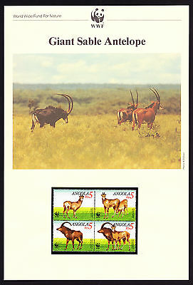 Angola Africa Giant Sable Antelope FOUR Maxi Postcards & FOUR FDC Covers FDI