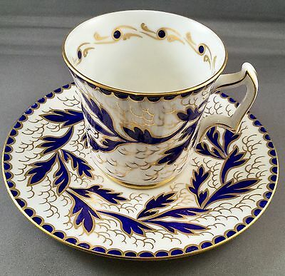 Royal Chelsea Vintage English teacup and saucer cobalt blue and lots of gold!