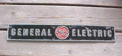 Antique GE General Electric Metal Appliance Sign No Res