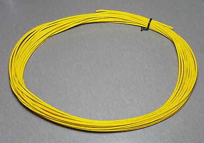 10 Metres YELLOW UL-1007 Hookup Wire 20AWG 1.8mm PVC insulator