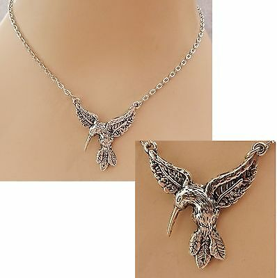 Silver Hummingbird Pendant Necklace Jewelry Handmade NEW Fashion Accessories