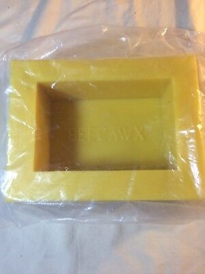 BEESWAX 2 pound lb BLOCK MOLD, BEEKEEPING EQUIPMENT, BEESWAX MOLD