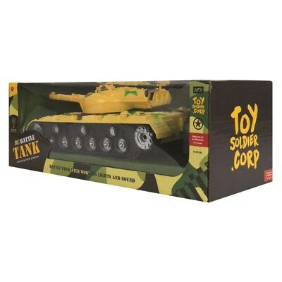Remote Control RC Battle Tank Army Sound & Lights Toy Soldiers Corps Gift