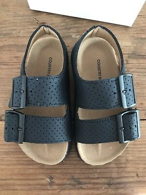 Country Road Boys Toddler Sandals Navy Blue Size 24 NEW