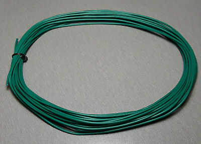 10 Metres GREEN UL-1007 Hookup Wire 20AWG 1.8mm PVC insulator