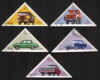 Soviet Cars & Trucks: GAZ-66, ZAZ-968, Volga, Etc - Complete Set of 5 Differen