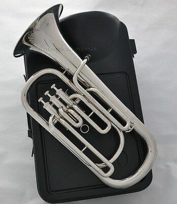 High quality JINBAO -1220 Silver Nickel Bb Baritone Piston Horn with ABS Case