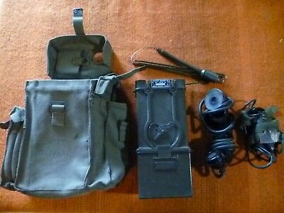 Canadian Cprc-26 Man-Pack Vhf Short Range Transceiver With Carry Bag & Ces