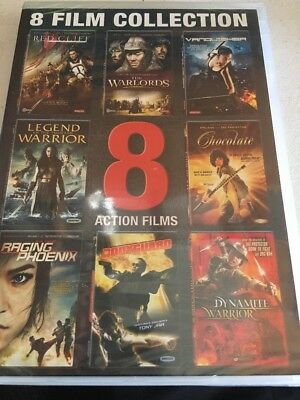Action Films: 8 Film Collection (DVD, 2015, 3-Disc Set) NEW Sealed Warlords