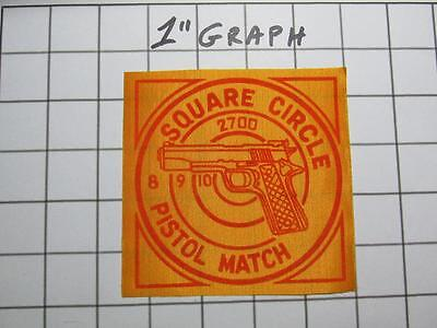 Vintage Shooting Patch - Square Circle Sportsmen Club 2700 Pistol Match - MINT